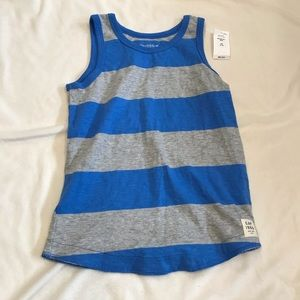 GAP blue and gray striped tank top w/ tags
